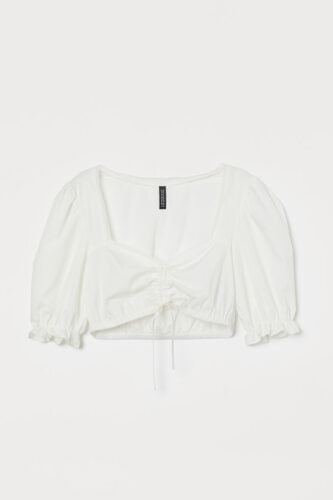 Milkmaid style white top