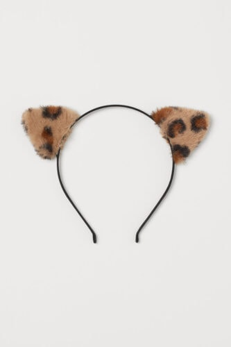 Leopard print animal ears