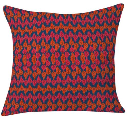 Colorful leaf pattern pillow from target