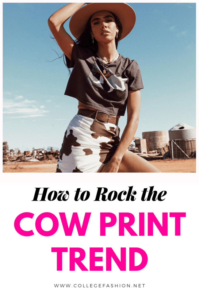 How to rock the cow print trend
