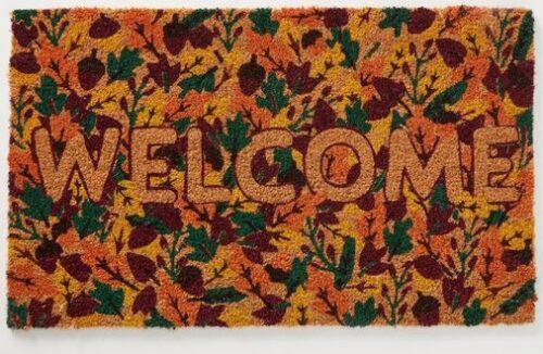 Fall decor ideas: Welcome mat.