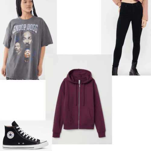 Outfit set of dressing like Rue from Euphoria.