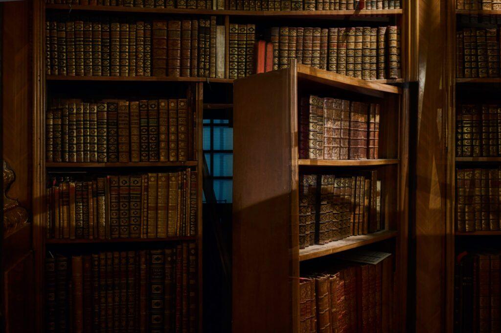 bookcase with hidden door