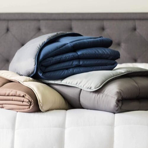 Faux down comforter for fall and winter