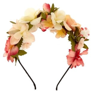 Floral crown from claire's