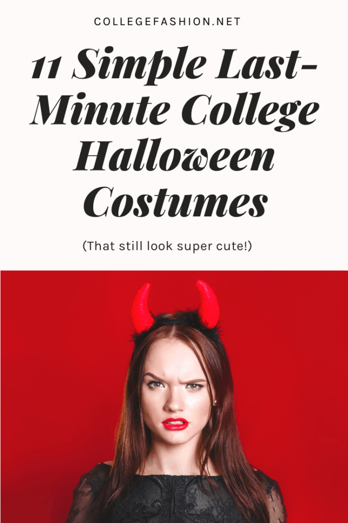 Simple last minute college halloween costumes that are actually cute