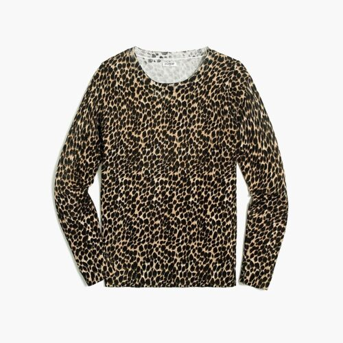 Fall staples for a grown up wardrobe - Leopard sweater from J.Crew Factory