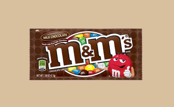 M&M's package.