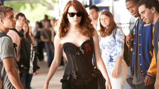 Girly halloween costume ideas from movies: Olive Pendergast from Easy A