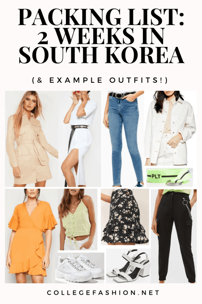 South Korea packing list for a two week trip to Seoul