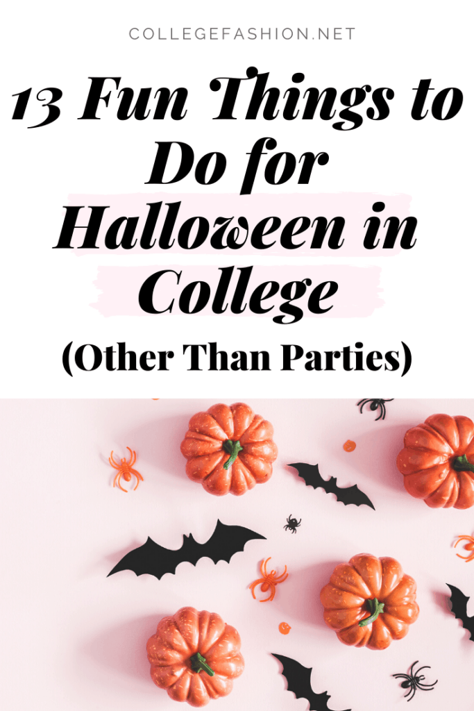 13 Fun things to do for Halloween in college, other than parties