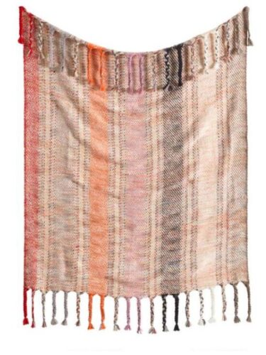 Throw blanket in Fall colors.