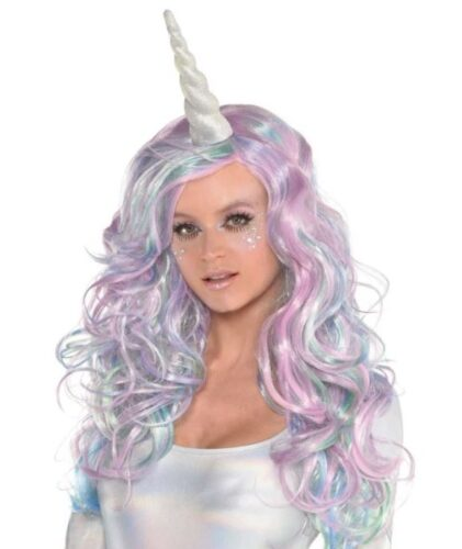 Last minute college halloween costumes - unicorn, Unicorn wig and horn
