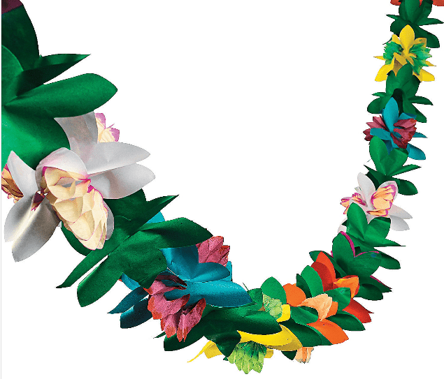 Product: Floral garland from Oriental Trading Post