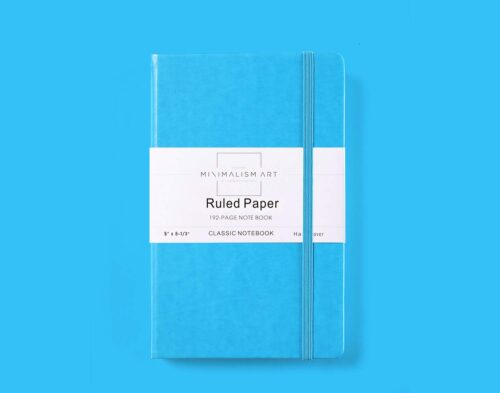 Secret santa gift ideas for 2019 - Ruled A5 Notebook in Blue