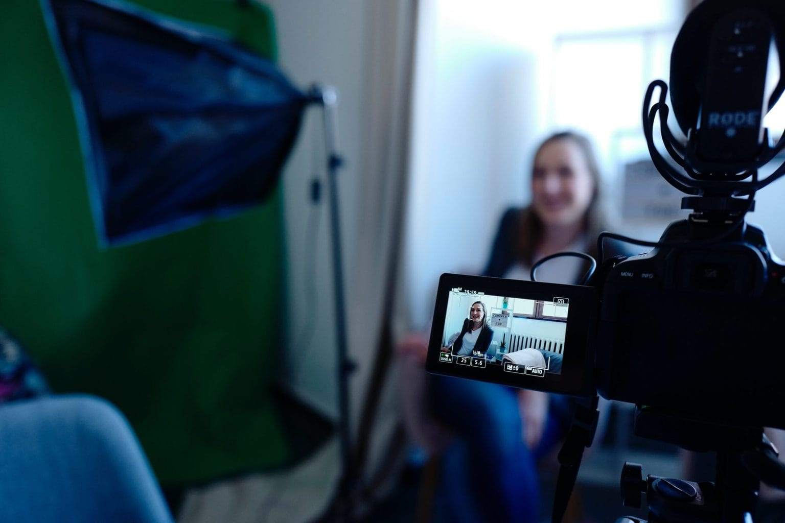 Stock photo of a video recording session