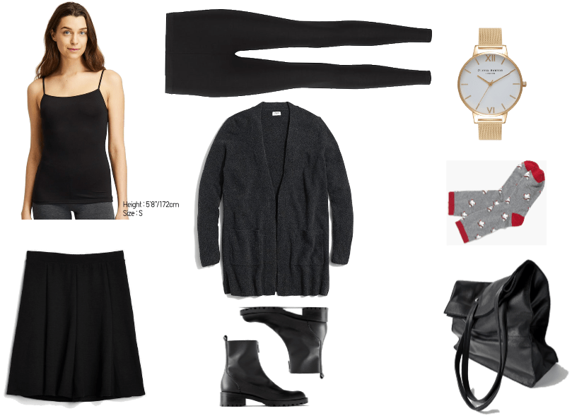 Three Cute and Comfortable Black Friday Outfits for Every Kind of Black Friday Shopper | Outfit #1 -- all black look