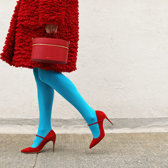 The New Ways to Wear Colorful Tights for Winter 2020 | Image