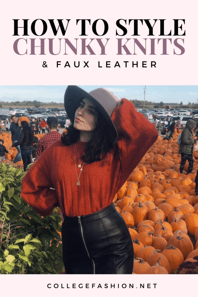 How to style chunky knits and faux leather
