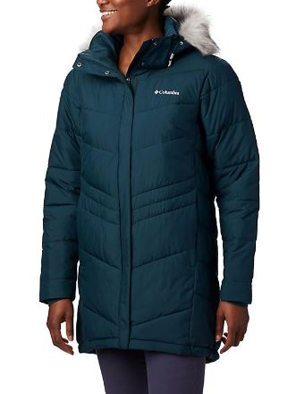 What to wear in snow - Teal jacket from Columbia