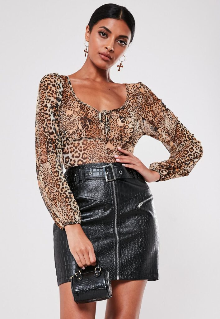 Faux leather skirt from Missguided