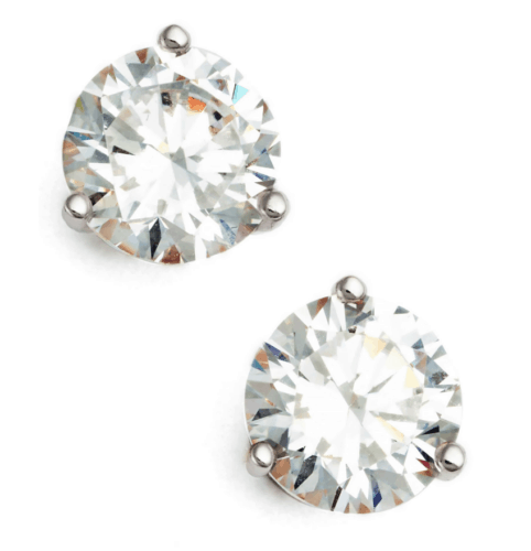 CZ stud earrings - round from Nordstrom