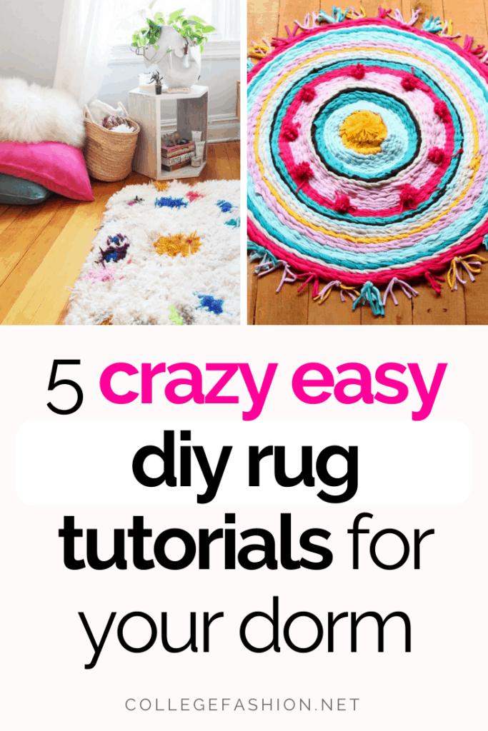 Easy DIY rug tutorials for your dorm