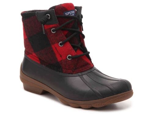 Sperry Syren Gulf Duck Boot in Red/Black Plaid