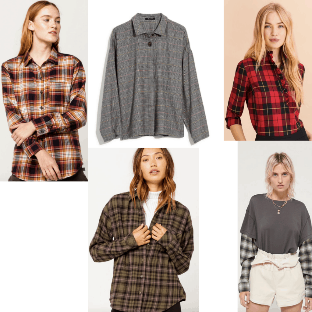 Set of different flannels.