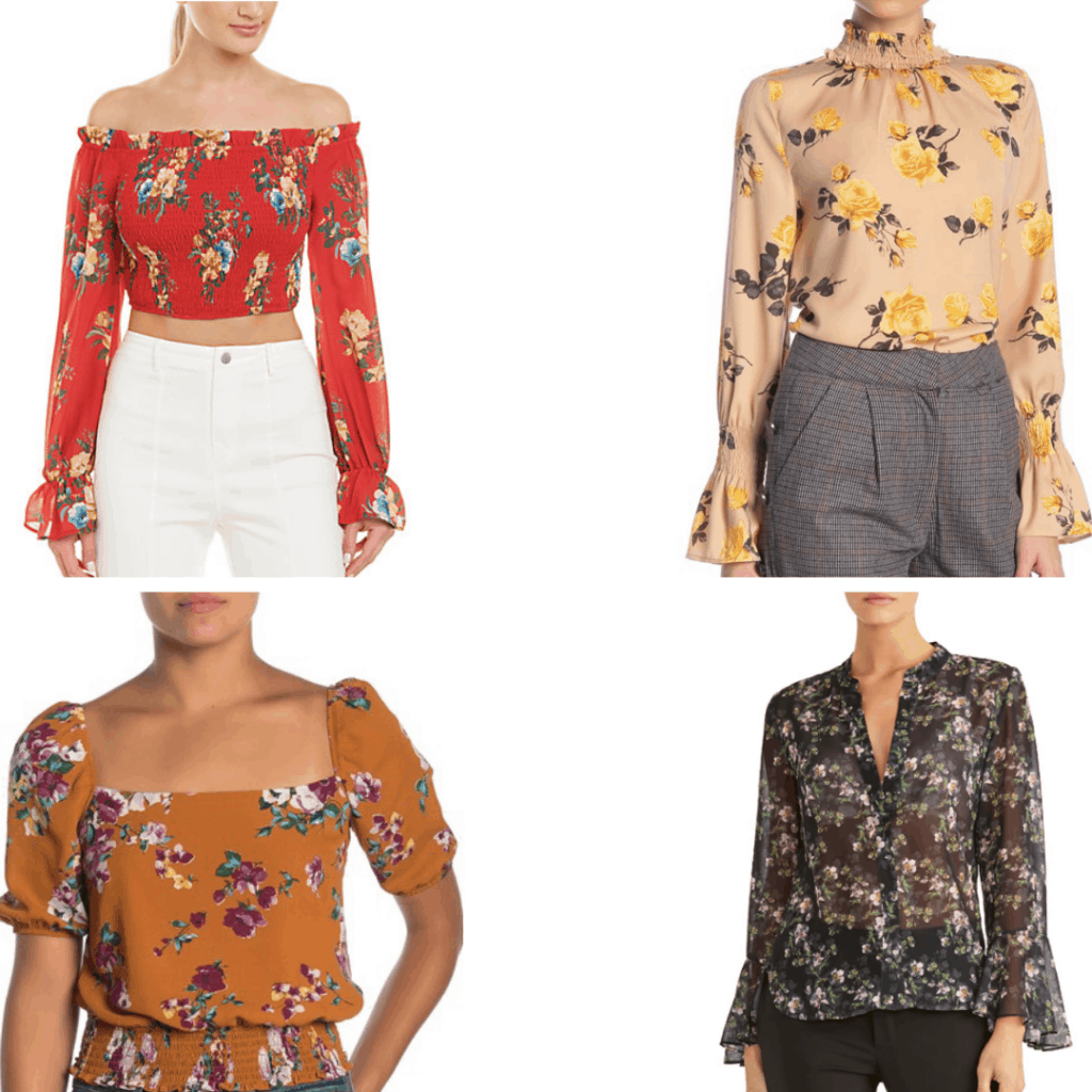 Different Floral blouses.