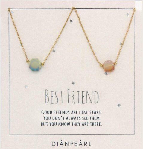 Personalized gift ideas - best friend necklaces on gold chains