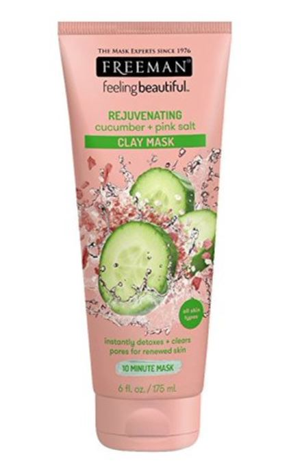 Cucumber + pink salt face mask product - best gifts under 20 for 2019