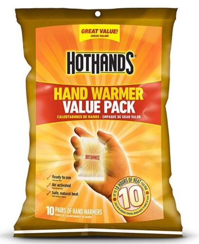 Hand warmers package.