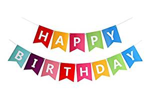 Product: Birthday banner from Amazon