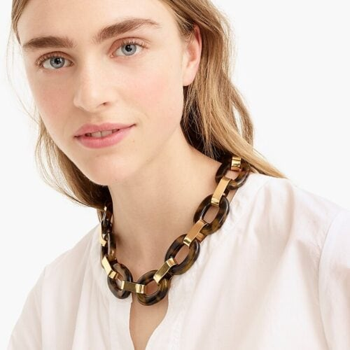 Tortoise chain link necklace from J.Crew
