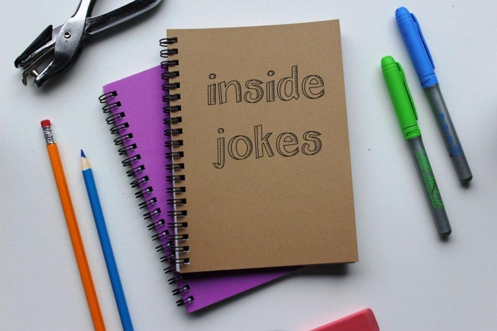 inside jokes notebook