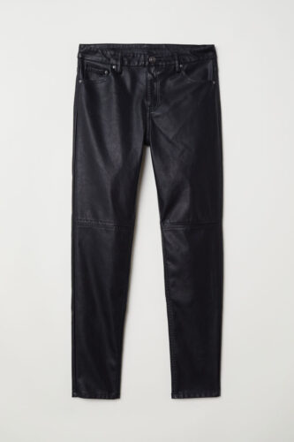 Faux leather pants from H&M
