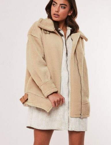 Winter 2019 trends - shearling, Shearling coat from Missguided