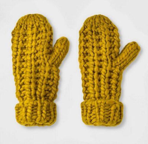 Mustard gloves from Target