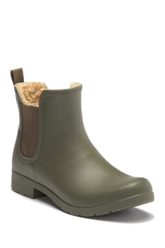 Cute winter boots for college: Chooka Eastlake Faux-Fur Waterproof Boot in Olive