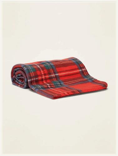 Red Plaid Performance Fleece Blanket