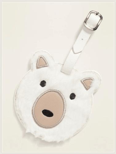 Cute secret santa gift ideas for college students - Polar Bear Luggage Tag