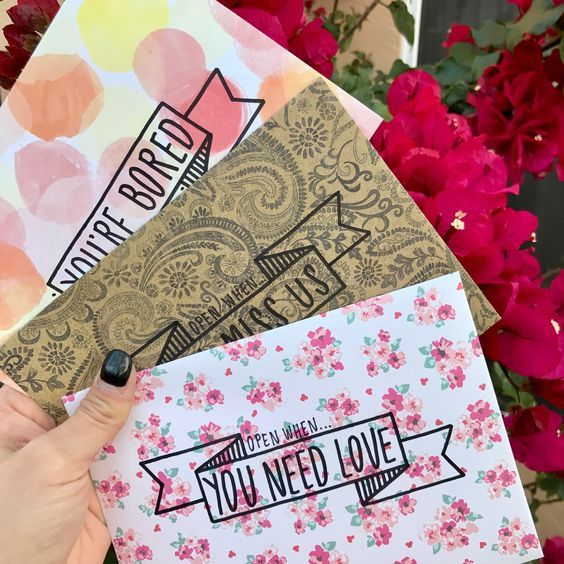 Personalized gift ideas - labeled envelopes