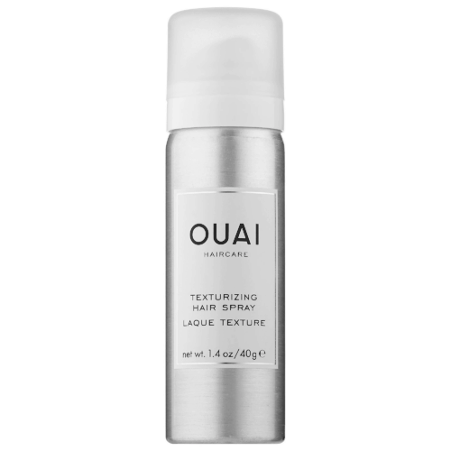 Packing light for a girls weekend - mini hairspray from Ouai