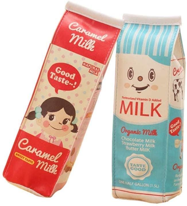 cartoon milk carton pencil case
