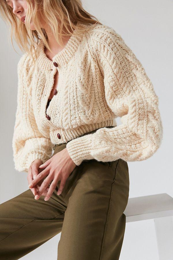 Cream chunky knit cardigan