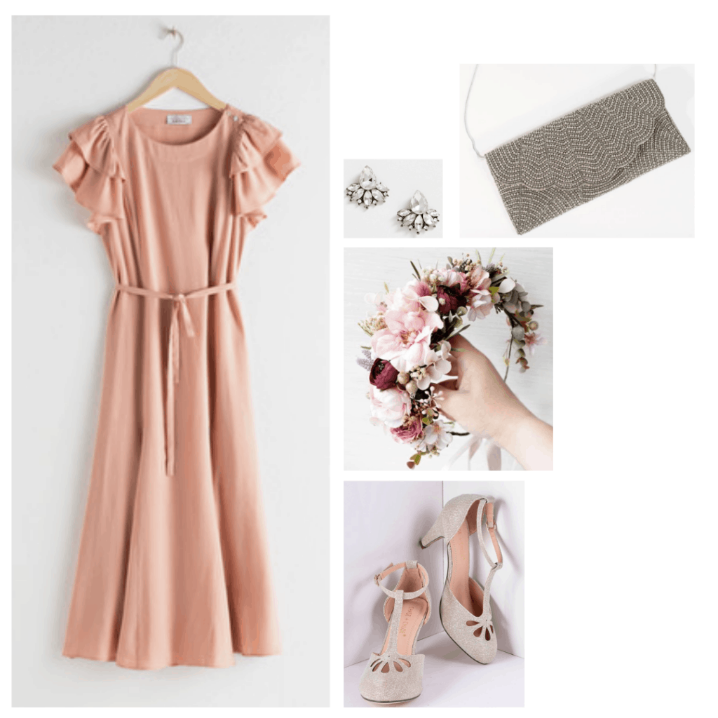 Sixteen Candles fashion - outfit inspired by Samantha's pink dress with flower crown,