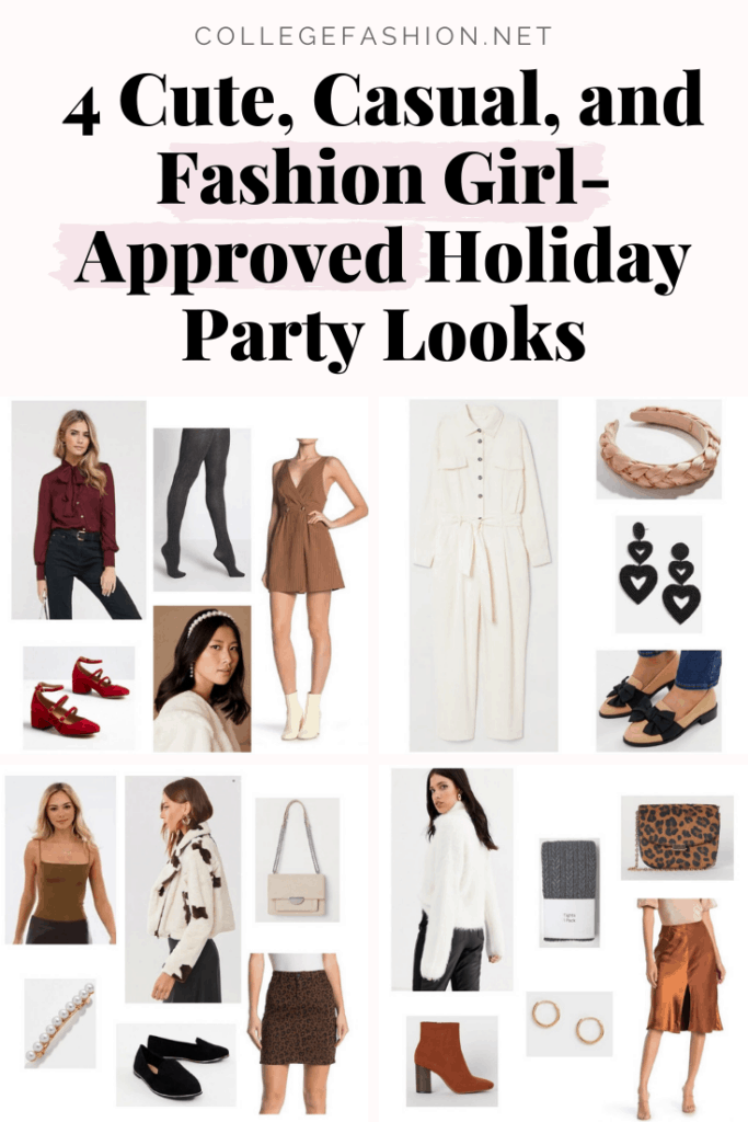 What to wear to a holiday party: 4 cute, casual, and fashion girl-approved holiday party looks