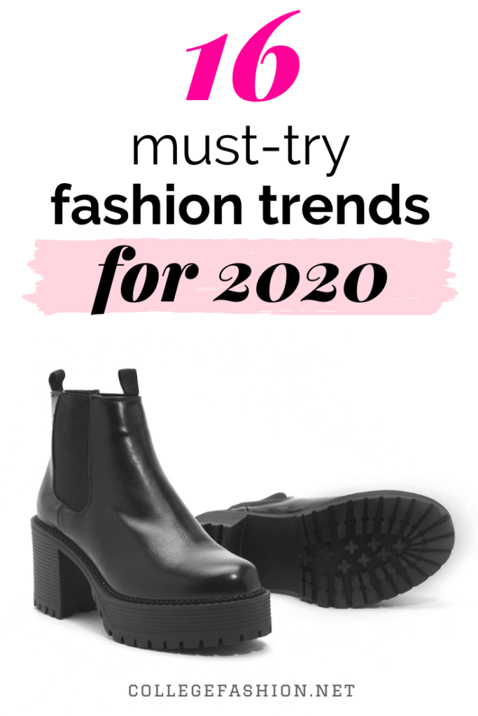 16 must-try fashion trends for 2020