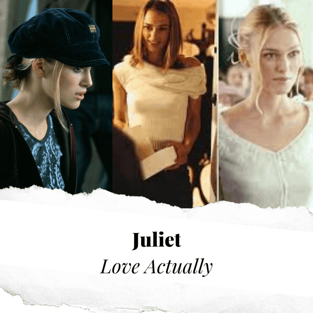 Christmas movie fashion - Juliet Love Actually Moodboard